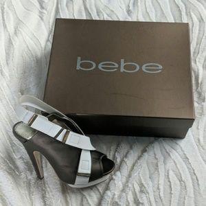 Bebe Ace Peep Toe Heels Size 7 GUC